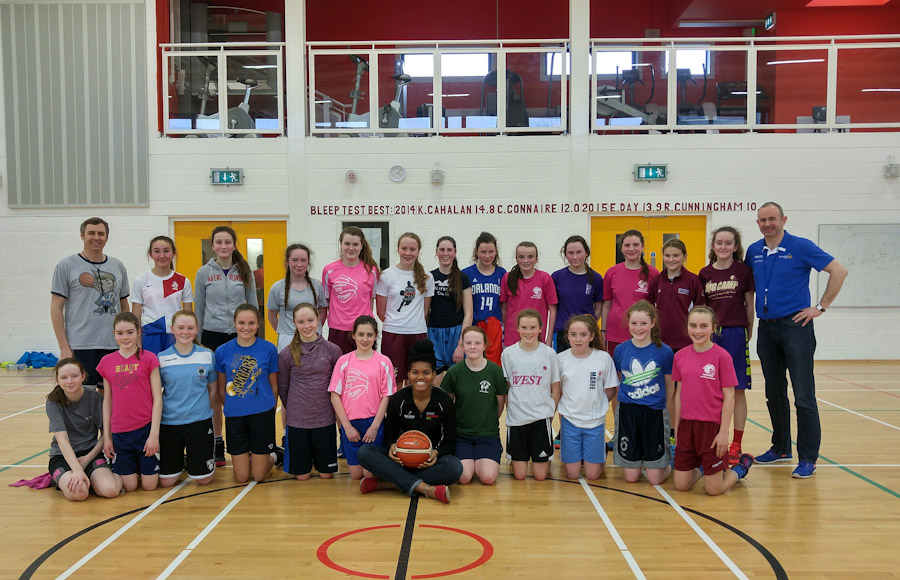Tim at U14 Galway Area Girls tryouts.